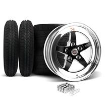 Mustang Weld RT-S Wheel & Tire Kit - 15x4/15x10 Black (94-04)