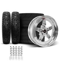 Mustang Weld RT-S Wheel & Tire Kit - 15x10/4  - Polished (94-04)