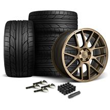 Mustang Velgen VMB7 Wheel & Nt555 G2 Tire Kit - 20x9/10.5 Bronze (15-17)