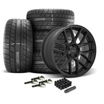 Mustang Velgen VMB7 Wheel & Tire Kit - 20x9/10.5  - Satin Black (15-20)