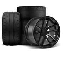 Mustang Rovos Cape Town Wheel & Tire Kit- 18x9/10  - Satin Black - NT05 Tires (94-04)