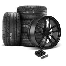Mustang Rovos Cape Town Wheel & Tire Kit- 20x8.5/10  - Satin Black - M/T Street Comp Tires (05-1...