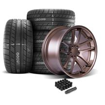 Mustang Rovos Cape Town Wheel & Tire Kit- 20x8.5/10  - Satin Bronze - M/T Street Comp Tires (05-...