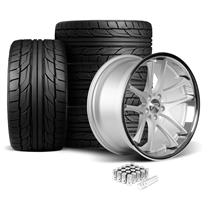 Mustang Rovos Cape Town Wheel & Tire Kit- 20x8.5/10  - Satin Silver - NT555 G2 Tires (05-14)