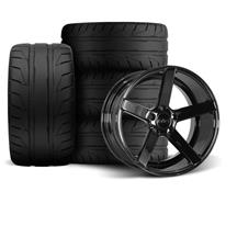 Mustang SVE NVX Wheel & Tire Kit - 18x9/10  - Gloss Black - NT05 Tires (94-04)