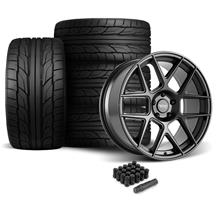 Mustang American Racing Apex Wheel & Tire Kit - 20x10  - Satin Black - G2 Tires (05-14)