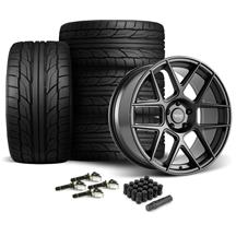 Mustang American Racing Apex Wheel & Tire Kit - 20x10  - Satin Black - G2 Tires (15-18)