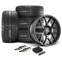 Mustang American Racing Apex Wheel & Tire Kit - 20x10  - Satin Black - M/T Street Comp Tires (15...
