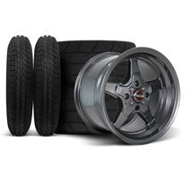 Mustang Race Star Drag Star Wheel & Tire Kit - 15x3.75/10  - Metallic Gray - M/T Tires (79-93)