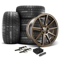 Mustang Velgen VMB9 Wheel & Tire Kit - 20x9/10.5  - Bronze - M/T Street Comp Tires (15-20)