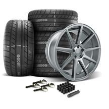 Mustang Velgen VMB9 Wheel & Tire Kit - 20x9/10.5  - Matte Gunmetal - M/T Street Comp Tires (15-2...