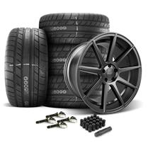 Mustang Velgen VMB9 Wheel & Tire Kit - 20x9/10.5  - Satin Black - M/T Street Comp Tires (15-20)