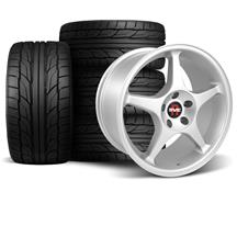 Mustang SVE 2000 Cobra R Style Wheel & Tire Kit - 18x9.5  - Silver - NT555 G2 Tires (94-04)