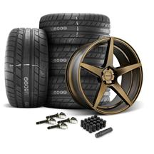 Mustang Velgen Classic5 Wheel & Tire Kit - 20x9/10.5  - Bronze - M/T Street Comp Tires (15-17)
