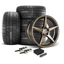 Mustang Velgen Classic5 Wheel & Tire Kit - 20x9/10.5  - Bronze - M/T Street Comp Tires (15-18)