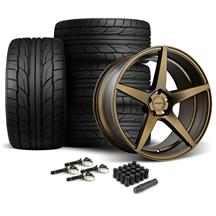 Mustang Velgen Classic5 Wheel & Tire Kit - 20x9/10.5  - Bronze - Nitto G2 (15-17)
