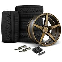 Mustang Velgen Classic5 Wheel & Tire Kit - 20x9/10.5  - Bronze - Nitto Invo (15-17)