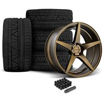 Mustang Velgen Classic5 Wheel & Tire Kit - 20x9/10.5  - Bronze - Nitto Invo (05-14)