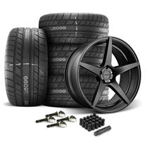 Mustang Velgen Classic5 Wheel & Tire Kit - 20x9/10.5  - Satin Black - M/T Street Comp Tires (15-...