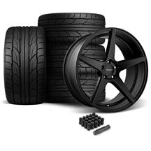 Mustang Velgen Classic5 Wheel & Tire Kit - 20x9/10.5  - Satin Black - Nitto G2 (05-14)