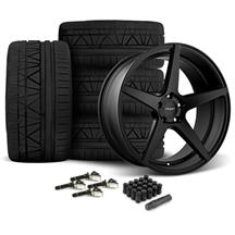 Mustang Velgen Classic5 Wheel & Tire Kit - 20x9/10.5  - Satin Black - Nitto Invo (15-17)