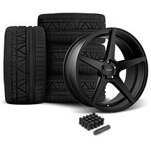 Mustang Velgen Classic5 Wheel & Tire Kit - 20x9/10.5  - Satin Black - Nitto Invo (05-14)