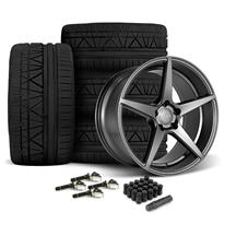 Mustang Velgen Classic5 Wheel & Tire Kit - 19x8.5/10  - Matte Gunmetal - Nitto Invo Tires (15-18...