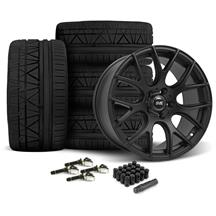 Mustang SVE Drift Wheel & Tire Kit - 19X9.5 Flat Black (15-17)