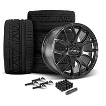 Mustang SVE Drift Wheel & Tire Kit - 19X9.5 Flat Black (15-18)