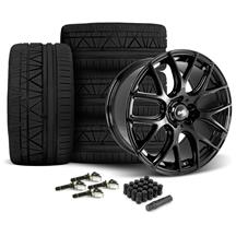 Mustang SVE Drift Wheel & Tire Kit - 19x9.5  - Gloss Black - Invo Tires (15-18)