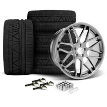 Mustang Downforce Wheel & Tire Kit - 20x8.5/10  Platinum (15-18)