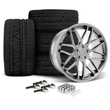 Mustang Downforce Wheel & Tire Kit - 20x8.5/10  Platinum (15-17)