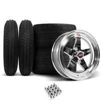 Mustang Weld RT-S Wheel & Tire Kit - 15x4/15x10 Black (79-93)
