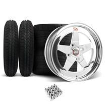 Mustang Weld RT-S Wheel & Tire Kit - 15x4/15x8 Polished (79-93)
