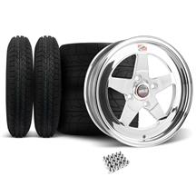 Mustang Weld RT-S Wheel & Tire Kit - 15x4/15x10 Polished (79-93)