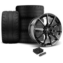 Mustang MRR M350 Wheel & Tire Kit - 19x10/11 Gloss Black - NT05 Tires (05-14)