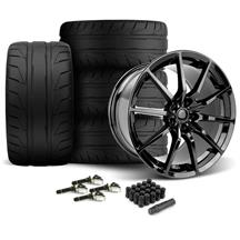 Mustang MRR M350 Wheel & Tire Kit - 19x10/11 Gloss Black (15-17)