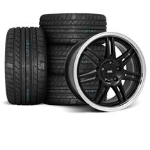 Mustang SVE Anniversary Wheel & Tire Kit - 17x9  - Black - M/T Tires (94-04)