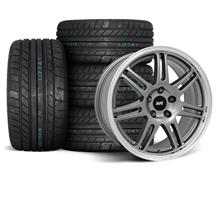 Mustang SVE Anniversary Wheel & Tire Kit - 17x9/10  - Anthracite - M/T Tires (94-04)