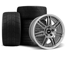 Mustang Anniversary Wheel & Drag Radial Tire Kit  - 17x9/10 - Anthracite - NT555R (94-04)
