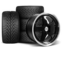 Mustang SC Wheel & Tire Kit - 17x9 Black (94-04)