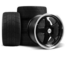 Mustang Saleen SC Wheel & Drag Radial Tire Kit  - 17x9/10 - Black - NT555R (94-04)