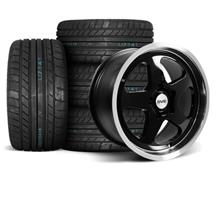 Mustang SC Wheel & Tire Kit - 17x9/10  - Black - M/T Tires (94-04)