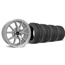 Mustang FR500 Wheel & Tire Kit - 17x9 Silver (94-04)