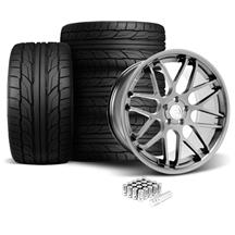 Mustang Downforce Wheel & Tire Kit - 20x8.5/10  Platinum (05-14)