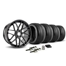 Mustang Downforce Wheel & Tire Kit - 20x8.5/10 Matte Black (15-17)