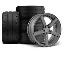 Mustang DF5 Wheel & Tire Kit - 20x8.5/10 Matte Gunmetal (05-14)