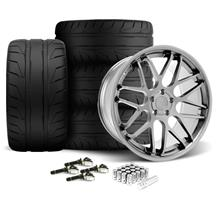 Mustang Downforce Wheel & Tire Kit - 20x8.5/10  - Platinum (15-17)