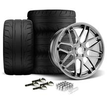 Mustang Downforce Wheel & Tire Kit - 20x8.5/10  - Platinum (15-18)