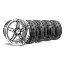 Mustang SVE Series 2 Wheel & Tire Kit - 19x9/10 Gunmetal w/ Polished Lip (15-17)